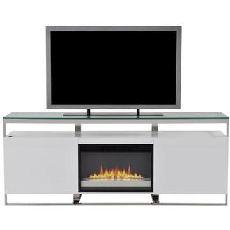 Calypso White Faux Fireplace w/Remote Control