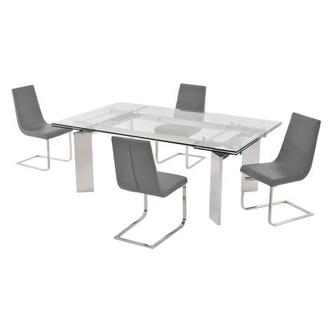 Cleo/Lea Gray 5-Piece Formal Dining Set