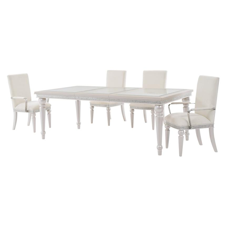 Glimmering Heights 5 Piece Formal Dining Set Alternate Image, 2 Of 13  Images.