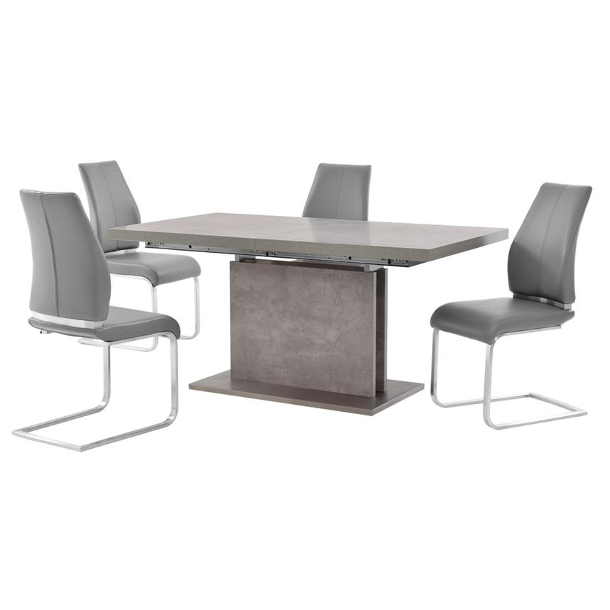 Kalinda/Maday Gray 5-Piece Formal Dining Set  main image, 1 of 12 images.