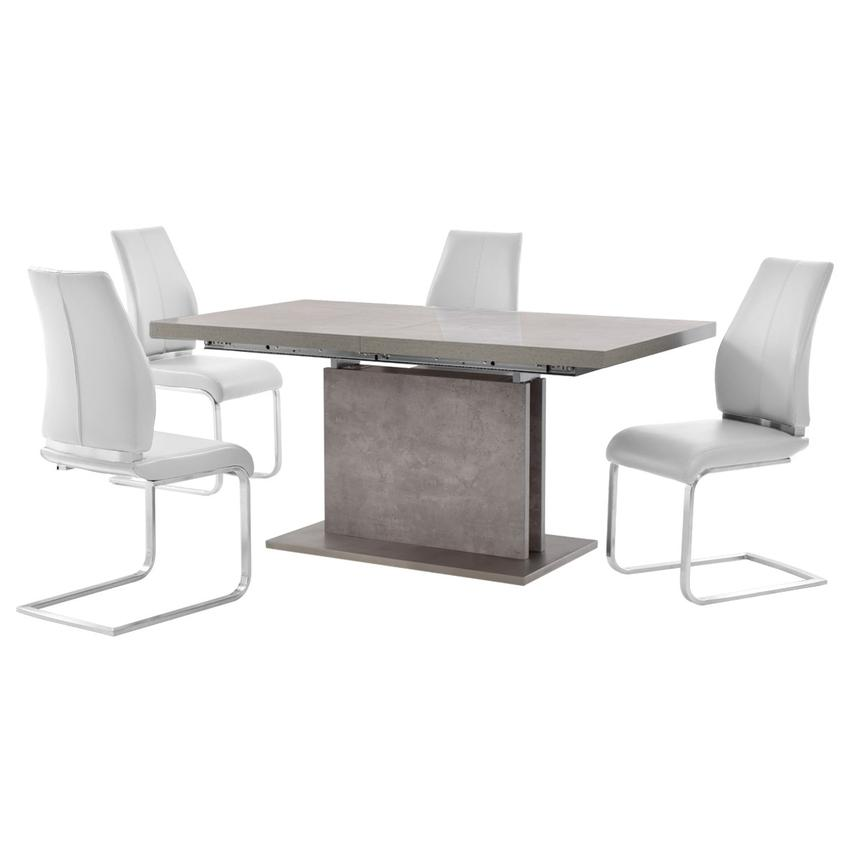 Kalinda/Maday White 5-Piece Formal Dining Set  main image, 1 of 11 images.