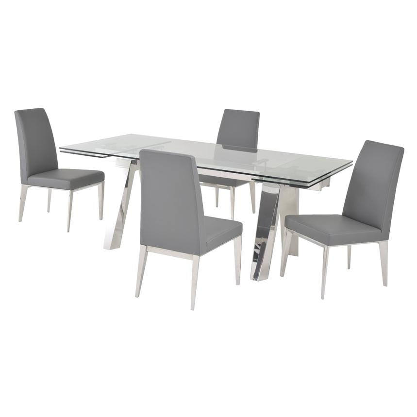 Madox Gray 5-Piece Formal Dining Set  main image, 1 of 12 images.