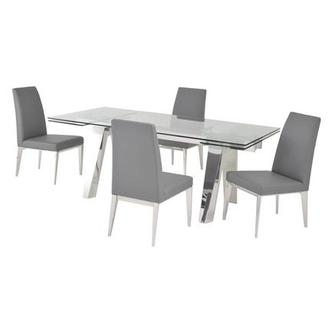 Madox Gray 5-Piece Formal Dining Set