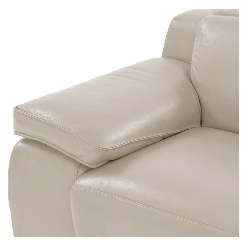 Gian Marco Cream Power Motion Leather Sofa  alternate image, 5 of 8 images.