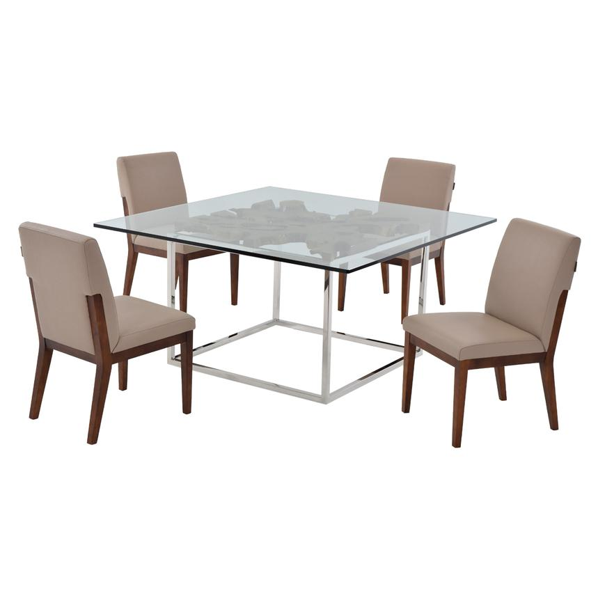Utica/Suria Taupe 5-Piece Casual Dining Set  main image, 1 of 9 images.