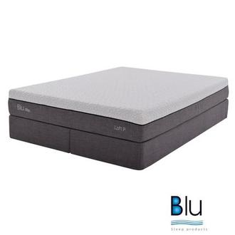 Loft 1.0 King Memory Foam Mattress w/Regular Foundation By Blu Sleep Products