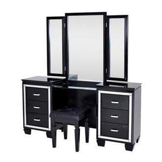 Isabel Black Vanity w/Bench