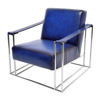 Miranda Blue II Leather Accent Chair