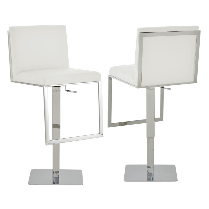Aventura White Adjustable Stool  main image, 1 of 6 images.