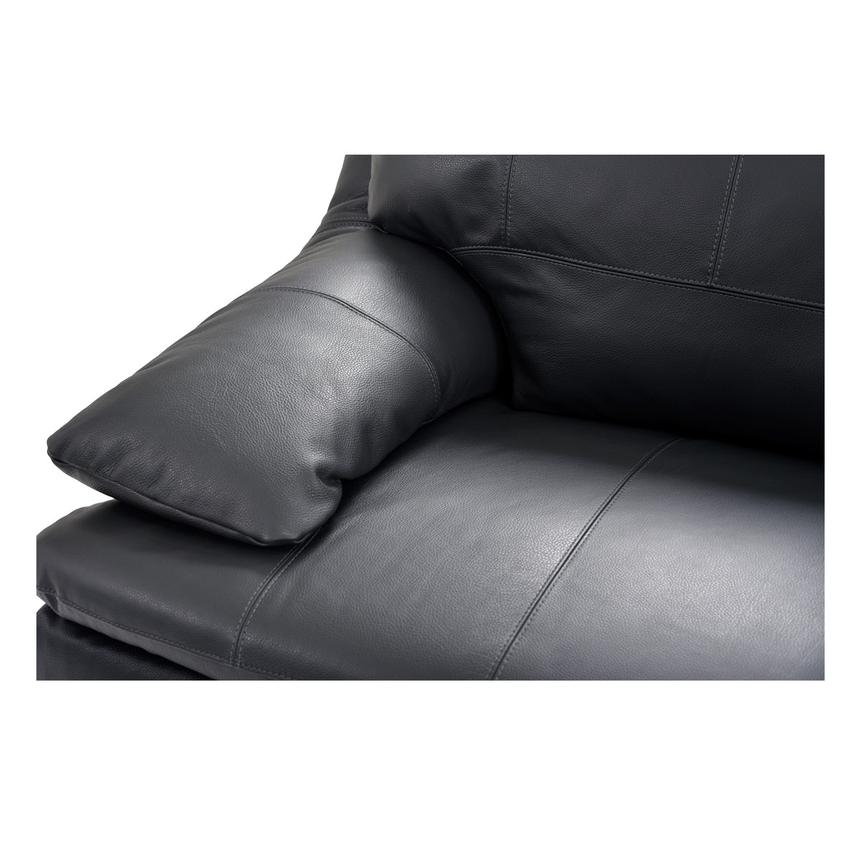 Rio Dark Gray Leather Sofa w/Right Chaise  alternate image, 5 of 8 images.