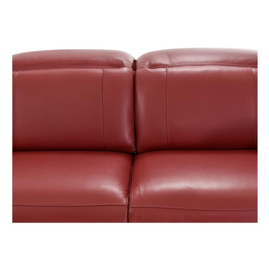 Davis Red Power Motion Leather Sofa w/Console  alternate image, 5 of 13 images.