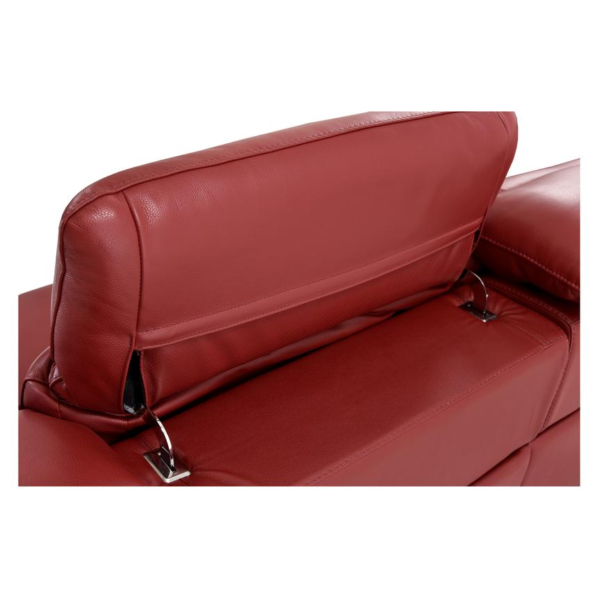 Davis Red Power Motion Leather Sofa w/Console  alternate image, 10 of 13 images.