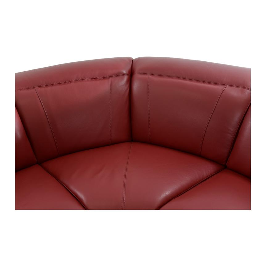 Davis Red Power Motion Leather Sofa w/Right & Left Recliners  alternate image, 5 of 11 images.