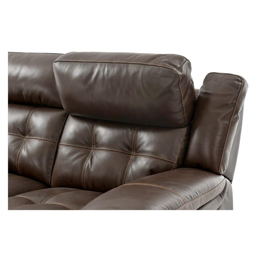 Stallion Brown Power Motion Leather Loveseat  alternate image, 6 of 8 images.
