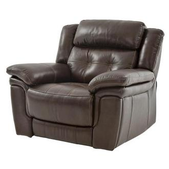 Stallion Brown Power Motion Leather Recliner
