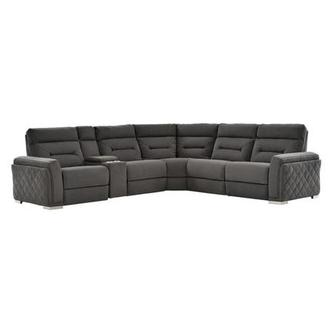 Kim Gray Power Motion Sofa w/Right & Left Recliners