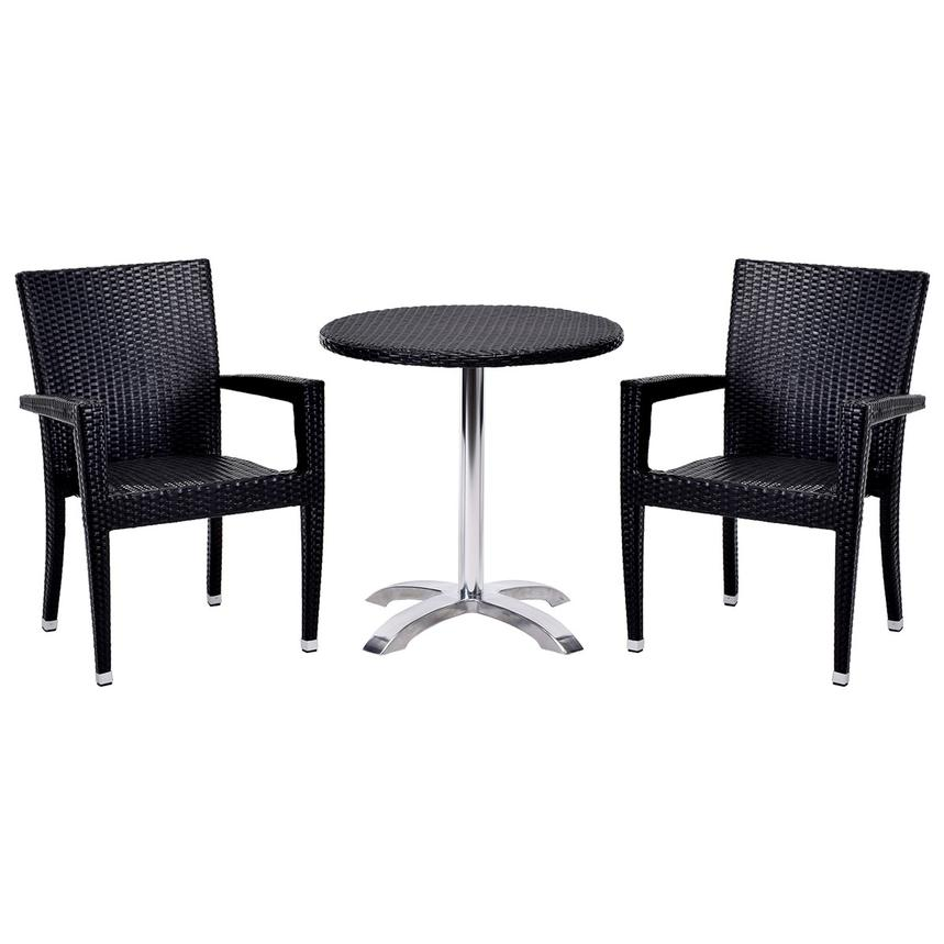 Gerald/Neilina Black 3-Piece Patio Set  main image, 1 of 10 images.