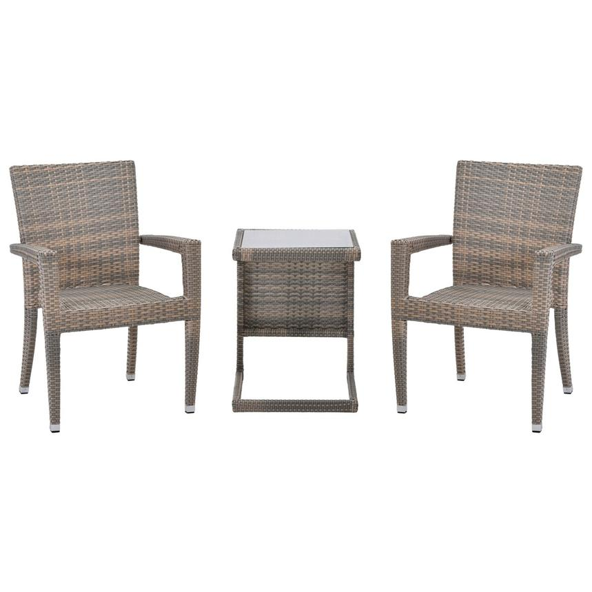 Neilina Brown 3-Piece Patio Set  main image, 1 of 11 images.