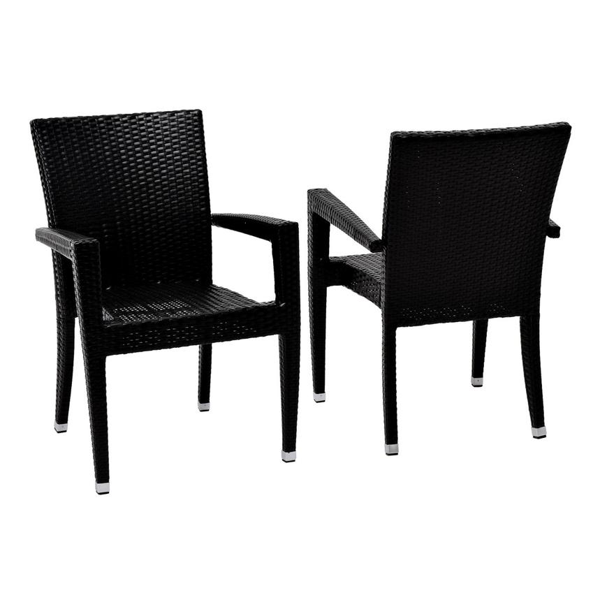 Neilina Black 3-Piece Patio Set  alternate image, 6 of 11 images.