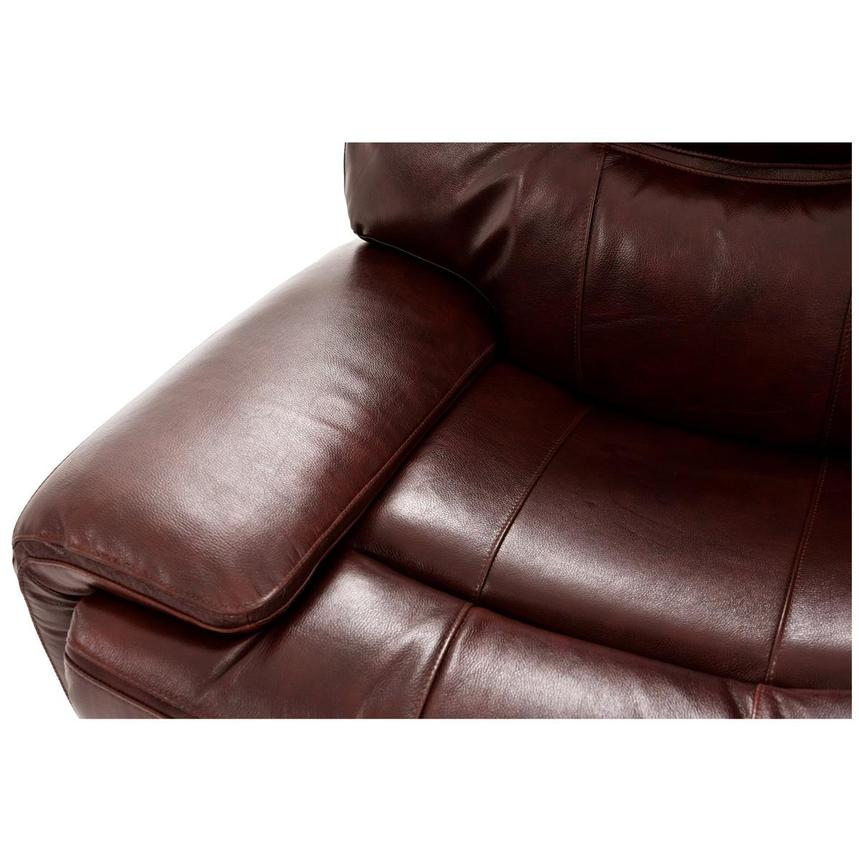 Houston Brown Power Motion Leather Sofa w/Console  alternate image, 6 of 9 images.