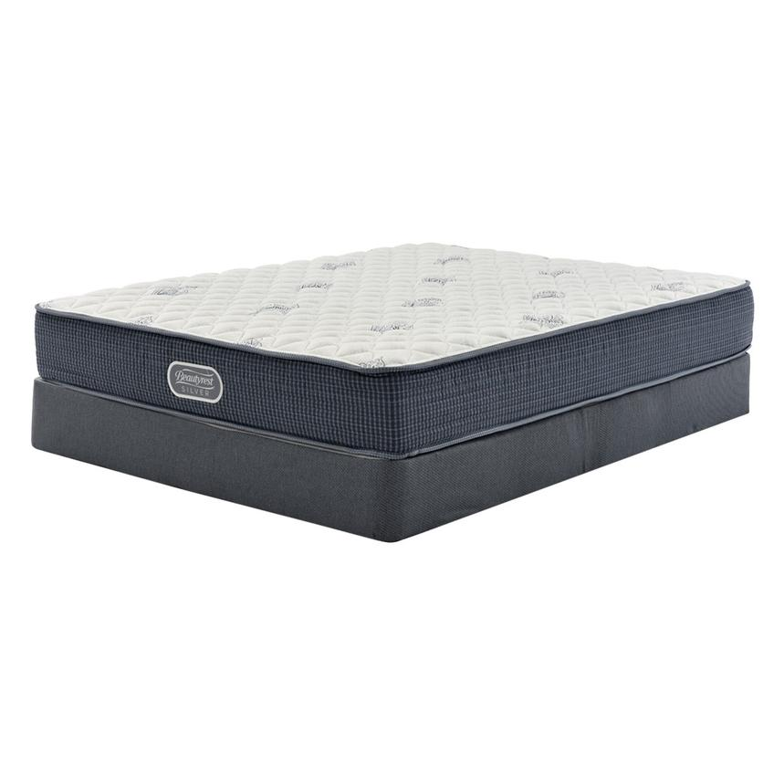 Pacific Heights Queen Mattress w/Regular Foundation by Simmons Beautyrest Silver  main image, 1 of 4 images.