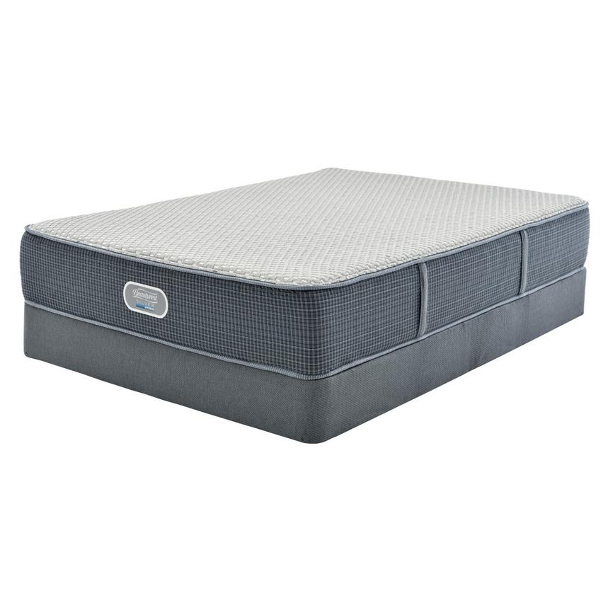 Marshall HB Twin Mattress w/Low Foundation by Simmons Beautyrest Silver  main image, 1 of 4 images.