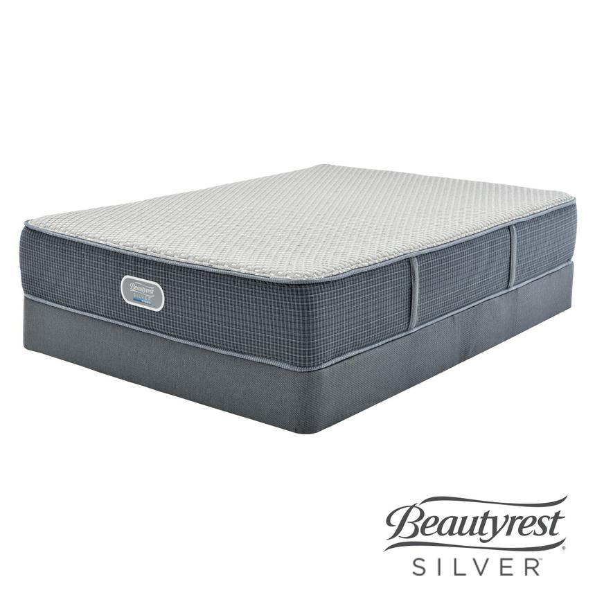 Marshall HB Queen Mattress w/Regular Foundation by Simmons Beautyrest Silver  main image, 1 of 5 images.