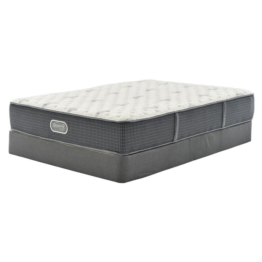 Bay Point Queen Mattress w/Regular Foundation by Simmons Beautyrest Silver  main image, 1 of 5 images.