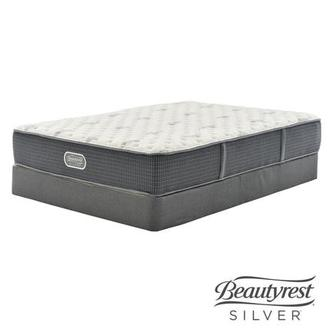 Bay Point Queen Mattress w/Low Foundation by Simmons Beautyrest Silver