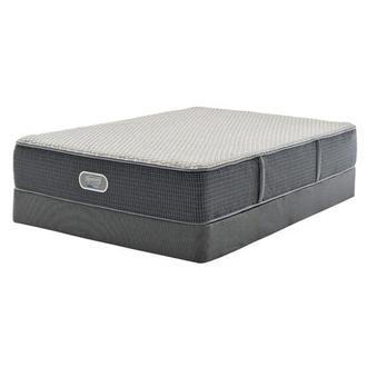 New London HB Queen Mattress w/Low Foundation by Simmons Beautyrest Silver