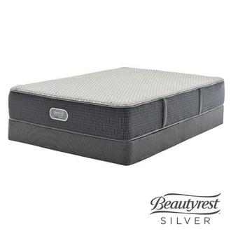 New London HB Twin Mattress w/Low Foundation by Simmons Beautyrest Silver
