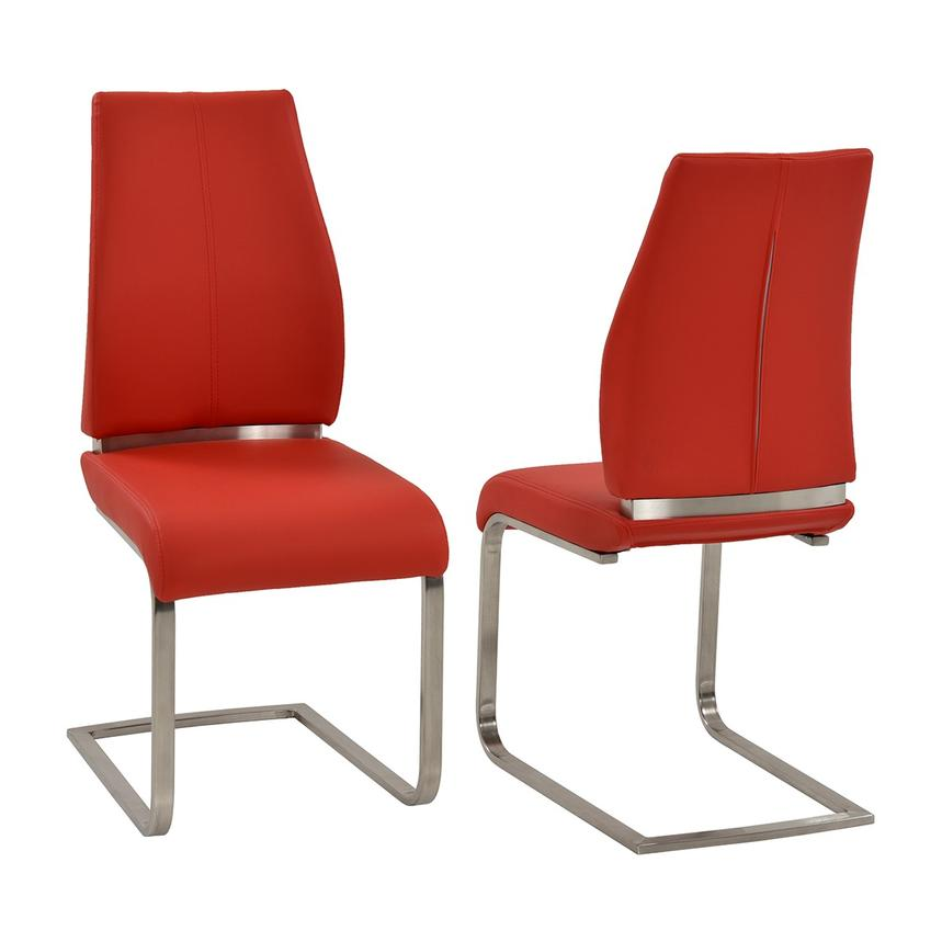 Superbe Maday Red Side Chair Main Image, 1 Of 5 Images.