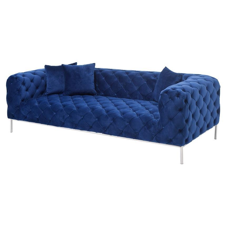 Crandon II Blue Sofa Main Image, 1 Of 7 Images.