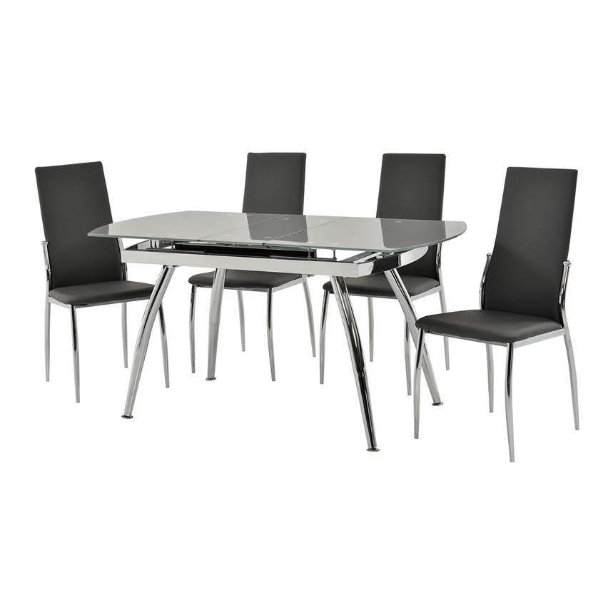 Luna Gray 5-Piece Casual Dining Set  alternate image, 2 of 12 images.