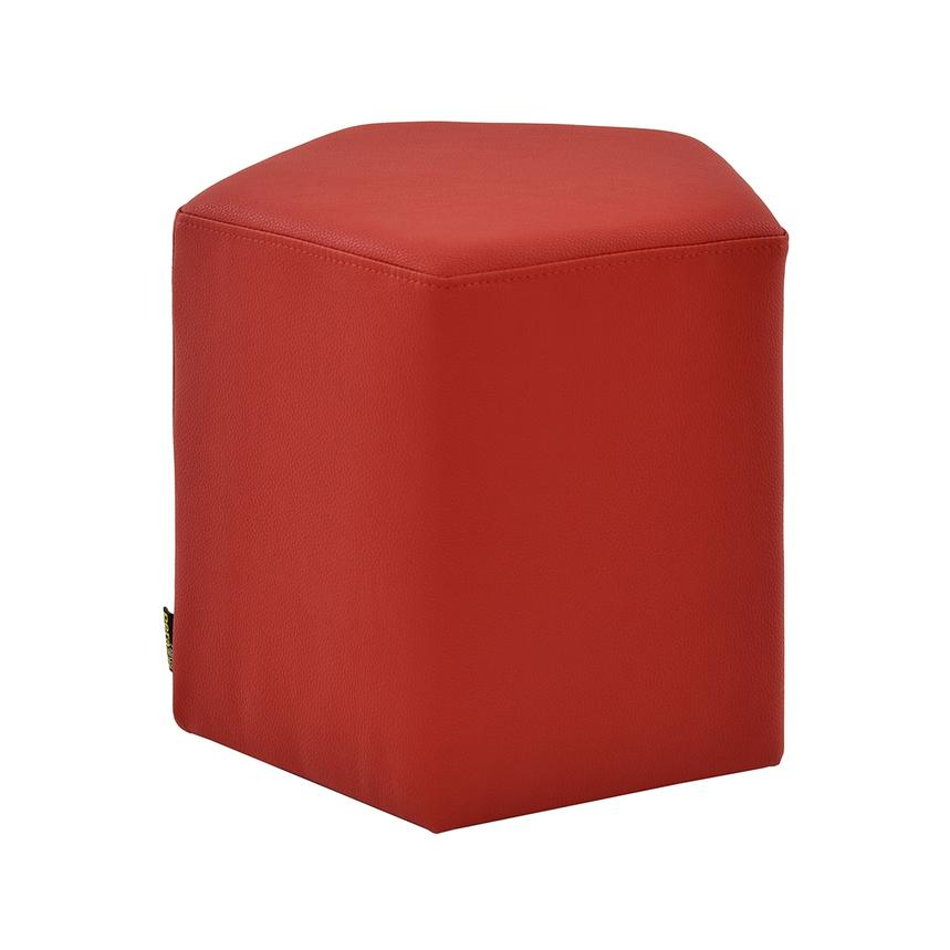 Luigi Red Ottoman  main image, 1 of 4 images.