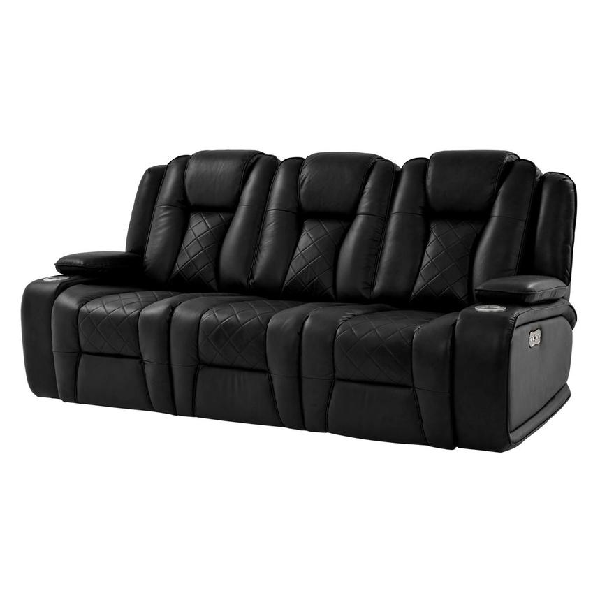 Chanel Black Power Motion Sofa El Dorado Furniture