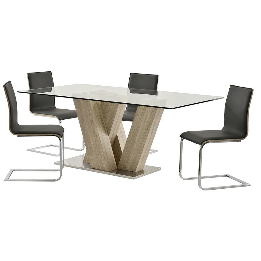 Solimar Gray 5-Piece Casual Dining Set  main image, 1 of 10 images.
