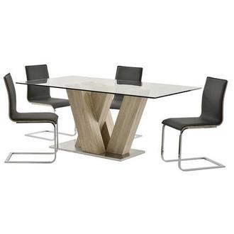 Solimar White 5 Piece Casual Dining Set El Dorado Furniture