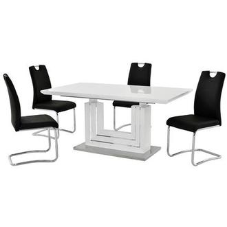 Lila Black 5-Piece Casual Dining Set