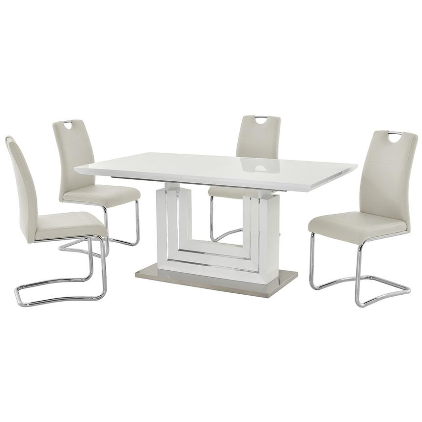 Lila White 5-Piece Casual Dining Set  main image, 1 of 12 images.