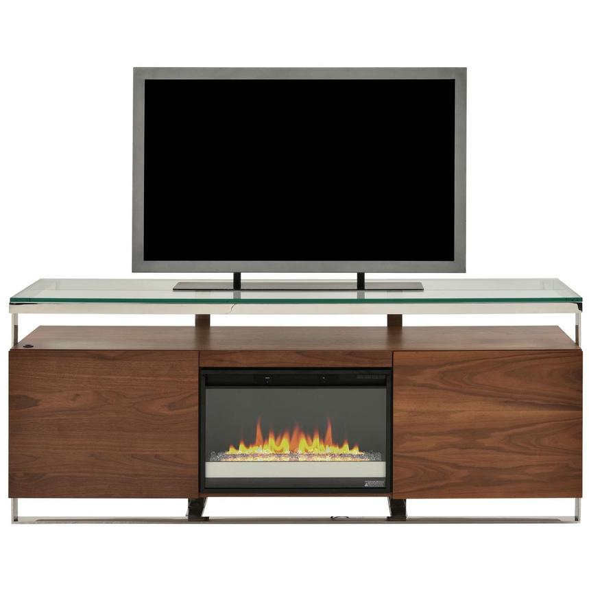 Calypso Walnut Faux Fireplace w/Remote Control  main image, 1 of 8 images.