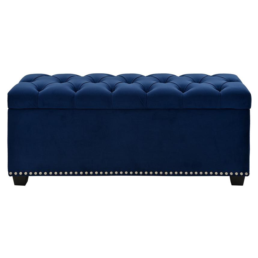 Majestic Blue Storage Bench  main image, 1 of 7 images.