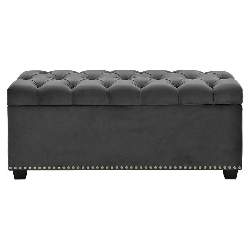 Majestic Gray Storage Bench  main image, 1 of 6 images.