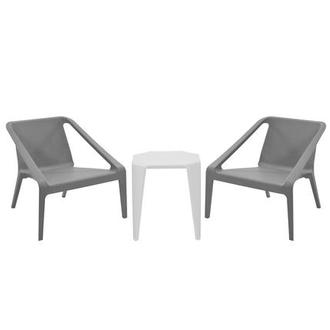 Positano Gray 3-Piece Patio Set