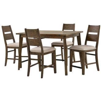 Flatbush Ave 5 Piece High Dining Set El Dorado Furniture