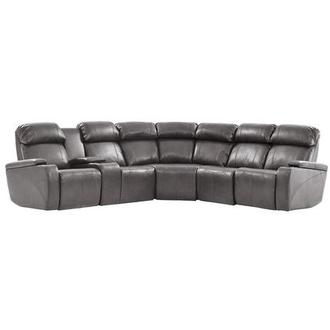 Magnetron Gray Power Motion Sofa w/Right & Left Recliners