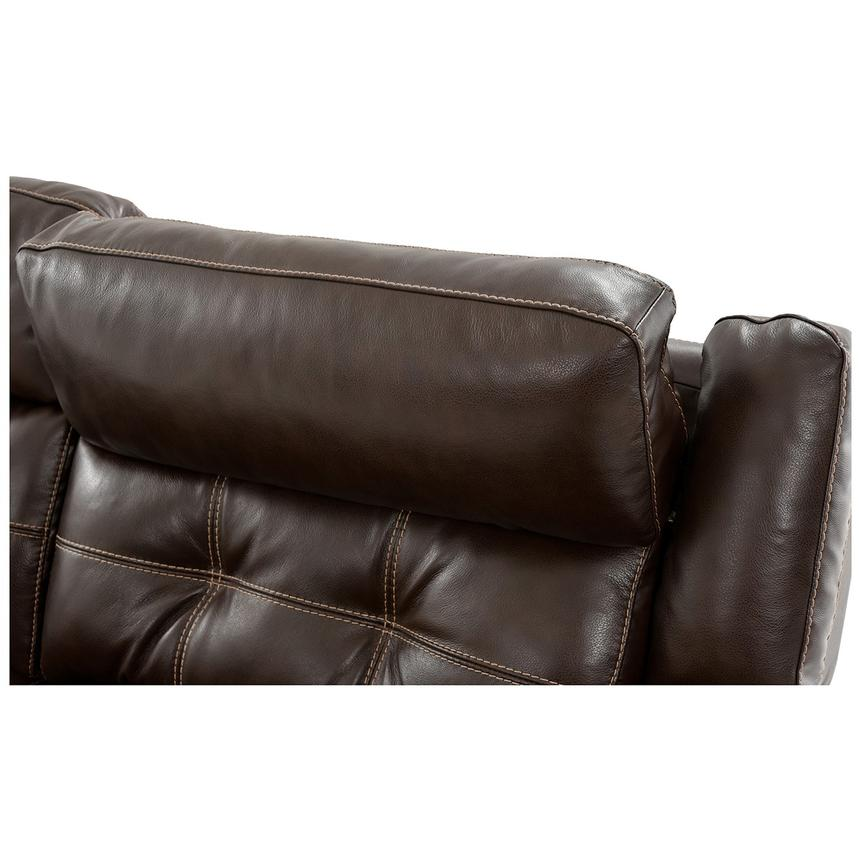 Stallion Brown Power Motion Leather Sofa w/Right & Left Recliners  alternate image, 6 of 9 images.