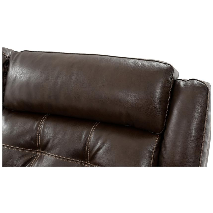Stallion Brown Power Motion Leather Sofa w/Right & Left Recliners  alternate image, 5 of 10 images.
