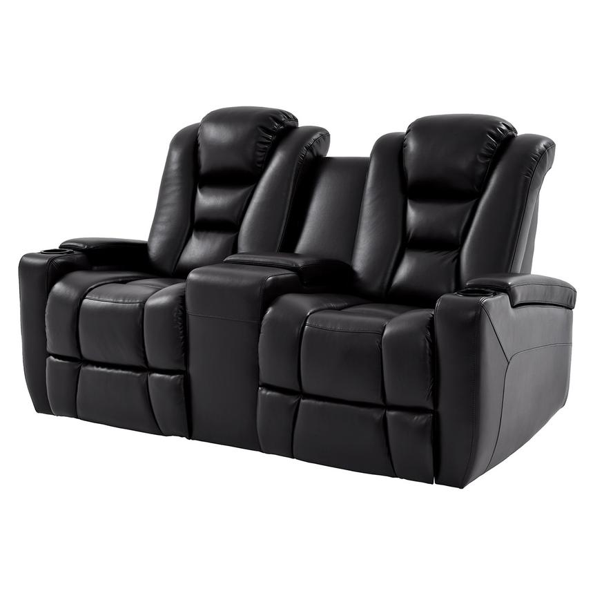 Transformer II Black Power Motion Sofa w/Console  main image, 1 of 10 images.