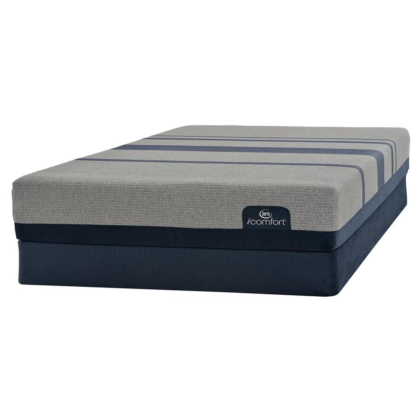 iComfort Blue Max 1000 Cushion Firm Full Mattress w/Low Foundation by Serta  main image, 1 of 3 images.